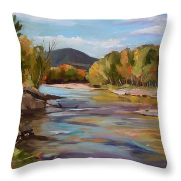 The Pemi In Autumn One Throw Pillow