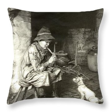 The Penny Whistle Throw Pillow by Ronald Osborne