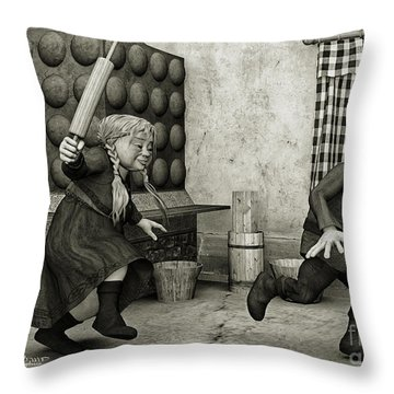 The Perfect Couple Throw Pillow by Jutta Maria Pusl
