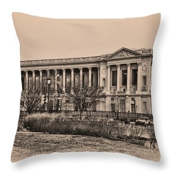 The Philadelphia Free Library Throw Pillow by Bill Cannon