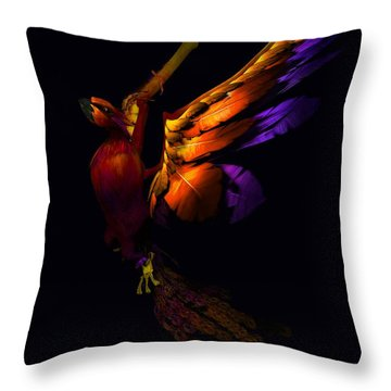 Throw Pillow featuring the digital art The Phoenix Rising... by Tim Fillingim