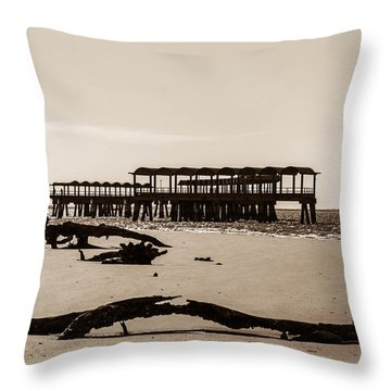 Throw Pillow featuring the photograph The Pier by Shannon Harrington