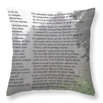 Throw Pillow featuring the photograph The Pinnacle by Tikvah's Hope