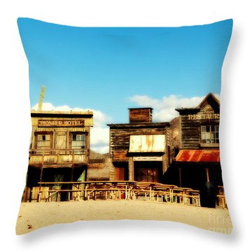 The Pioneer Hotel Old Tuscon Arizona Throw Pillow by Susanne Van Hulst