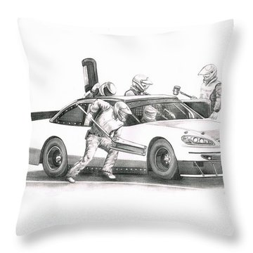 The Pitts  Throw Pillow by Murphy Elliott