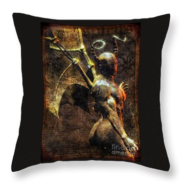 The Pnakotic Manuscripts Throw Pillow by Luca Oleastri