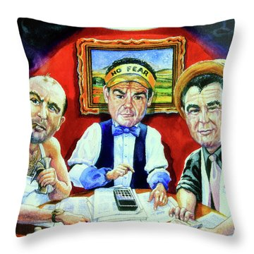 The Poker Game Throw Pillow by Hanne Lore Koehler