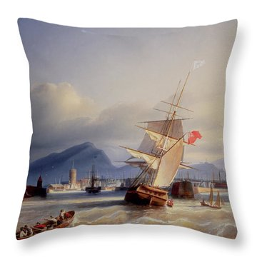 The Port Of Leith Throw Pillow by Paul Jean Clays
