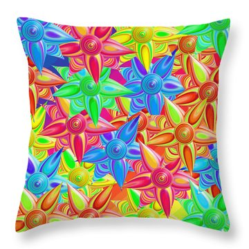 The Power Of Flowers Throw Pillow