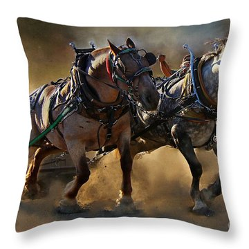 The Power Of Two Throw Pillow by Davandra Cribbie