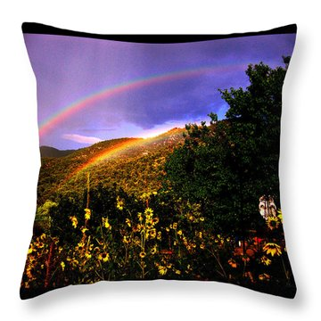 Throw Pillow featuring the photograph The Prayer Was Answered by Susanne Still