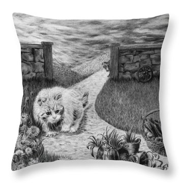 The Predator And The Prey Throw Pillow