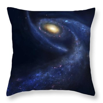 The Predicted Collision Throw Pillow by Fahad Sulehria