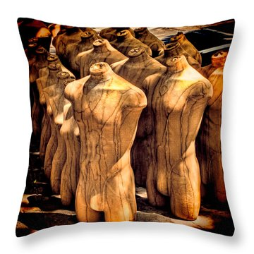 Throw Pillow featuring the photograph The Protest by Chris Lord