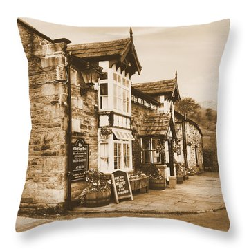 The Pub Newspaper Throw Pillow