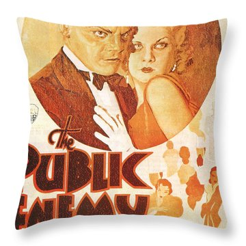 The Public Enemy Throw Pillow by Georgia Fowler
