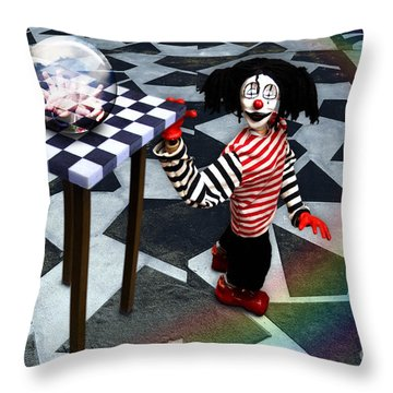 Throw Pillow featuring the digital art The Puppet Freedom by Rosa Cobos