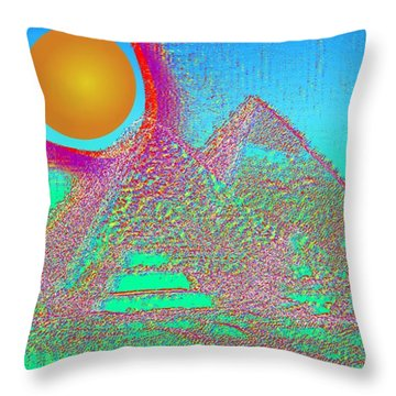 The Pyramids Throw Pillow by Helmut Rottler