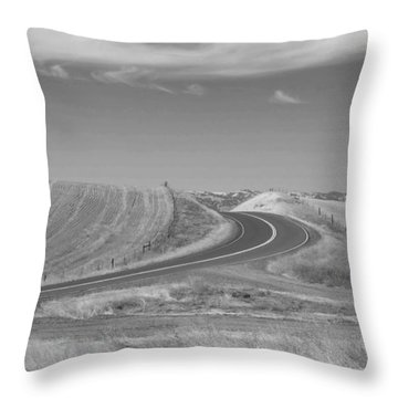 Throw Pillow featuring the photograph The Quiet Road by Kathleen Grace