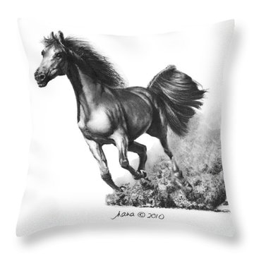 the Race is on  Throw Pillow