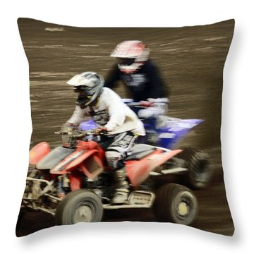The Race To The Finish Line Throw Pillow by Karol Livote