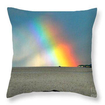 The Rainbow's Edge Throw Pillow