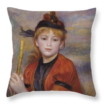 The Rambler Throw Pillow by Pierre Auguste Renoir