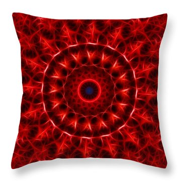 The Red Abyss Throw Pillow