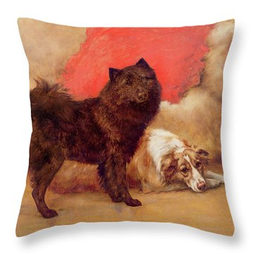 The Red Cushion Throw Pillow by Maud Earl