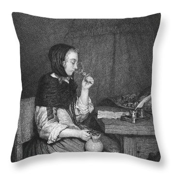 The Refreshment, 19th Cent Throw Pillow by Granger
