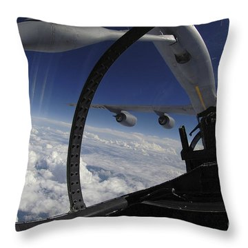 The Refueling Boom From A Kc-135 Throw Pillow by Stocktrek Images