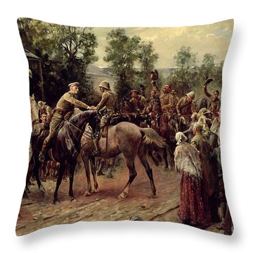 The Relief Of Ladysmith On 27th February 1900 Throw Pillow by John Henry Frederick Bacon