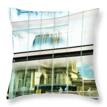 The Restaurant With A View Of St Pauls Cathedral Throw Pillow