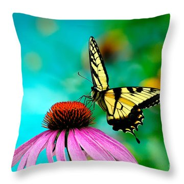 The Return Throw Pillow by Lois Bryan