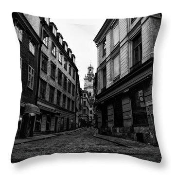The Right Way Stockholm Throw Pillow by Stelios Kleanthous