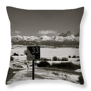 Throw Pillow featuring the photograph The Road Home by Eric Tressler