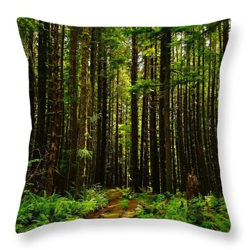 The Road Into The Green  Throw Pillow by Jeff Swan