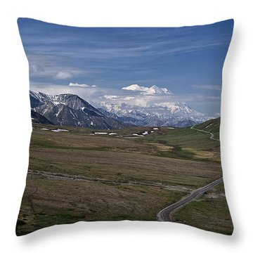 The Road To The Great One Throw Pillow by Wes and Dotty Weber