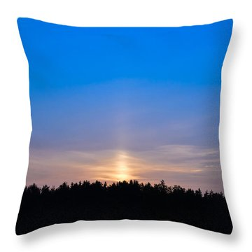The Road To The Sky Throw Pillow