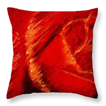 The Rose II Throw Pillow by David Patterson