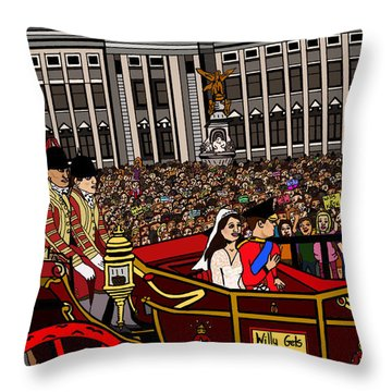 The Royal Wedding  Throw Pillow by Karen Elzinga