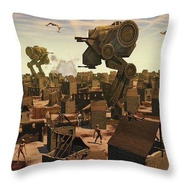 The Ruins Of An Earth Type Environment Throw Pillow by Mark Stevenson