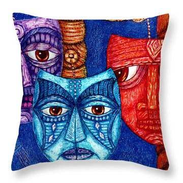 The Sadness The Mistrust And The Fatigue Throw Pillow by Madalena Lobao-Tello