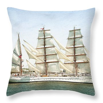 Throw Pillow featuring the photograph The Sagres by Verena Matthew