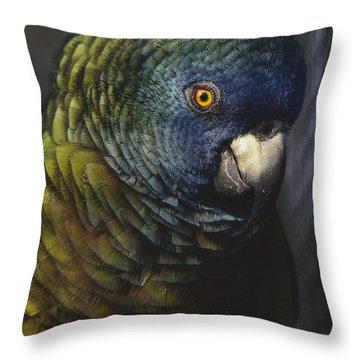 The Saint Lucia Parrots Population Throw Pillow