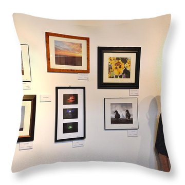 The Salon Exhibit 2 Throw Pillow by Artie Wallace
