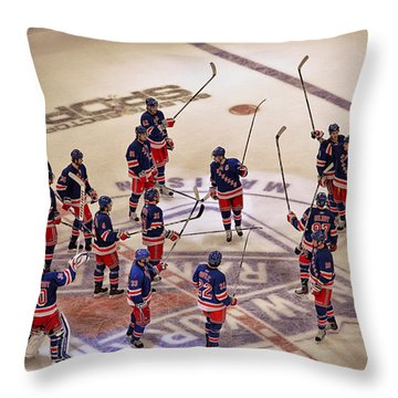 The Salute Throw Pillow by Karol Livote