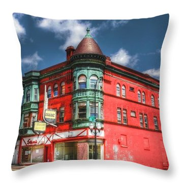 The Sauter Building Throw Pillow by Dan Stone
