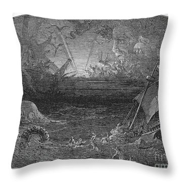 The Sea Of Darkness Throw Pillow by Granger