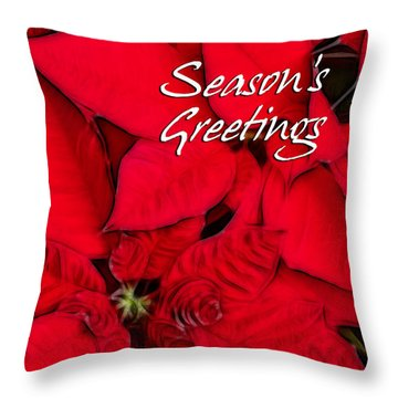 The Season's Velvet Touch Throw Pillow